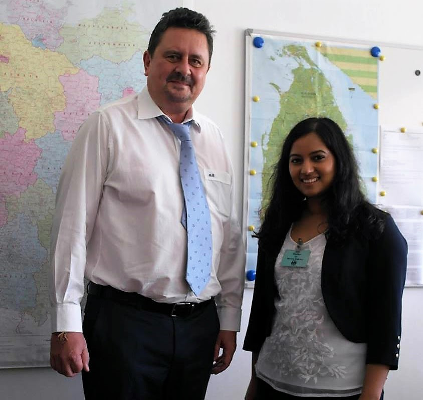 Lavanya with German Deputy Ambassador Andreas Berg
